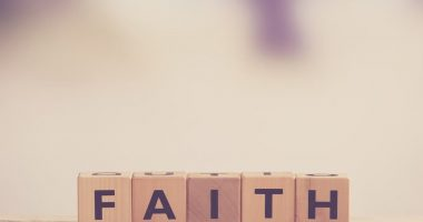 Faith and Sickle Cell / Sickle Cell Anemia News / Image of wooden blocks that spell out the word 'faith'
