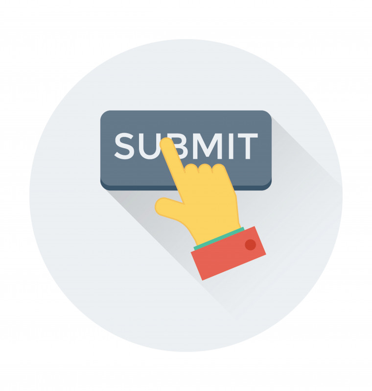 Endari | Sickle Cell Disease News | Regulatory applications | Graphic of an index figure icon hovering over a submit button