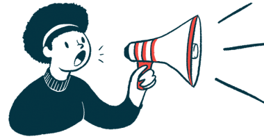 Sickle Cell Consortium first Caregiver Summit/Sickle Cell Anemia News/woman with megaphone making announcement illustration